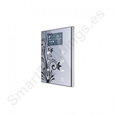 Panel capacitivo de 8 botones y display con termostato (modelo ONE).