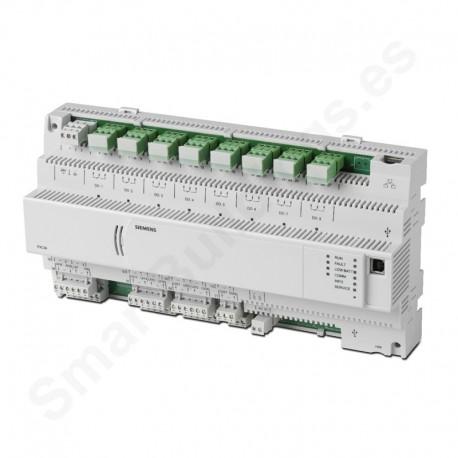 Controlador DESIGO PX compacto con comunicación BACnet/LonTalk (24UIO,4DI,8DO)