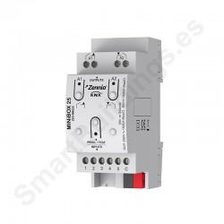 MINiBOX 25. Actuador multifunción KNX - 2 salidas 16A / 5 entradas A/D.
