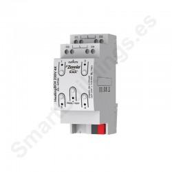 HeatingBOX 230V 4X. Actuador de calefacción con salidas a 230VAC - 4 canales.