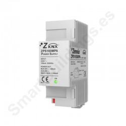 Fuente alimentación KNX 160mA con fuente auxiliar 29VDC. Vin: 230VAC.