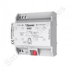 Fuente alimentación KNX 320mA con fuente auxiliar 29VDC. Vin: 110VAC.