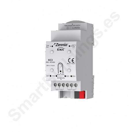 Interfaz KNX para cuatro contadores de consumo con salida de pulsos S0
