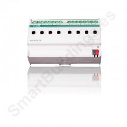 Actuador de salidas binarias con 8 canales de 16A KNX