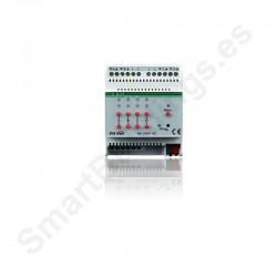 Actuador de persiana de 4 canales, 6A 230V, KNX